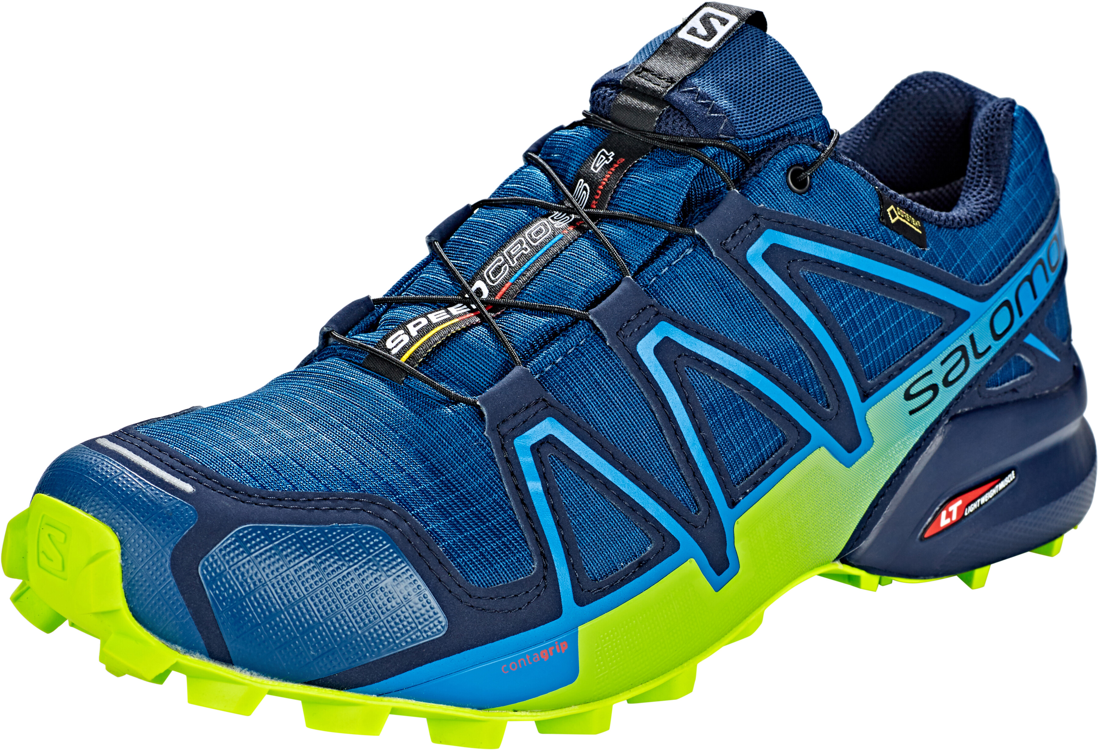 nouveau design économies fantastiques baskets Salomon Speedcross 4 GTX Chaussures Homme, poseidon/navy blazer/lime green